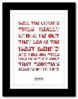 THE BEATLES - Back In The U.S.S.R. ❤ song lyrics typography poster art print