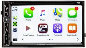 "POWER ACOUSTIK CPAA-70D 7"" ANDROID AUTO APPLE CAR PLAY BLUETOOTH CD DVD USB AUX"