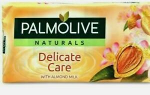 PALMOLIVE SOAP 3 X 90 G NATURALS DELICATE  ALMOND MILK GENTLE SKINCARE UK