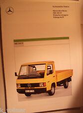 ✪altes original LKW Prospekt Mercedes-Benz Pritschenwagen/ Fahrgestell MB 100 D