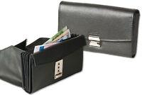 Rinaldo® Preiswerte Leder Kellnerbörse in Schwarz mit verstärktem Hartgeldfach