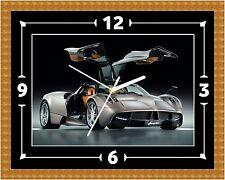Pagani Huayra Car Clock Gift Present Christmas Birthday (Can Be Personalised)
