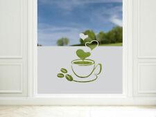 Sichtschutzfolie Küche Kaffee Tasse Küchenfenster Fensterfolie Glastür Cafeteria