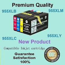 4x 955XL 955 Ink Cartridge Compatible for HP Officejet Pro 7740 8210 8216 8710