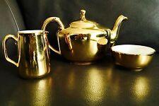 "Vintage (1950s) English Royal Worcester ""Fireproof"" Teapot, Creamer & Sugar Bowl"