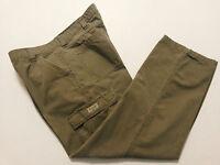 Wrangler Mens Pants Tag Size 38 x 32 (Actual 38 x 31) Cargo Slacks Beige Cotton