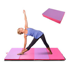 "6' × 4' × 2"" Gymnastics Mats Mat Folding Panel Home Gym Yoga Stretch Pad"