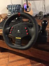 PC gaming steering wheel And Pedals Momo Racing Force PC Logitech E-UH9