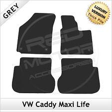 VW Volkswagen Caddy Maxi Life 2008 in poi adattati LUSSO 1300g TAPPETINI AUTO GRIGIO