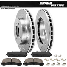 Front Brake Rotors Ceramic Pads For 2002 2003 2004 2005 - 2007 Mitsubishi Lancer