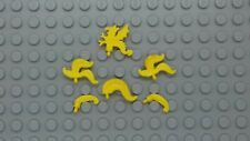 LEGO - 6 x  ASSORTED VINTAGE YELLOW PLUMES FEATHERS x47 4502c 4502b 4502a -