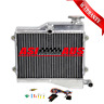 Aluminum Radiator For YAMAHA RD250 LC RD350 LC 4L0 4L1+thermostat kit