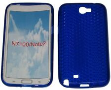 Custodia in gel Pattern protettore per Samsung Galaxy Note 2 GT N7100 N7105 Blu