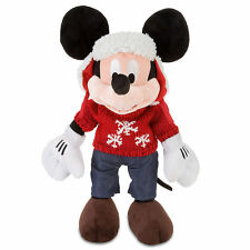Disney Store Cozy Cables Mickey Mouse Plush 17''