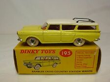 DINKY TOYS 193 RAMBLER CROSS COUNTRY STATION WAGON - YELLOW 1:43 - EXCELLENT IB