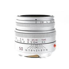 Leica 50mm f2.0 Summicron-M Silver 6-Bit Lens