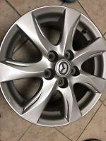 "Mazda 3  16x6 1/2"" Alloy Wheel Hollender 64927  9965876560.  7 Spoke With Sensor"