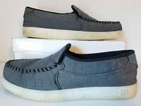 DC Shoes Villain TX Slip on Low Top Shoes Gray White Casual Men Sz 11M