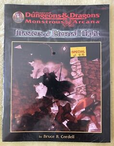 Advanced Dungeons & Dragons Monstrous Arcana Masters of Eternal Night ~ NEW ~