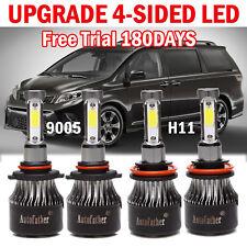 For Toyota Sienna 2010-2015 9005 + H11 LED Headlight Kit High & Low Light Bulbs