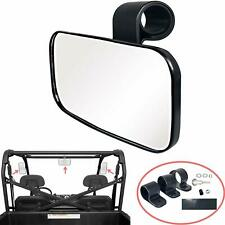 """Center Wide Rear Clear Mirror for Universal UTV Off Road Large Adjustable 1.5-2"""""""