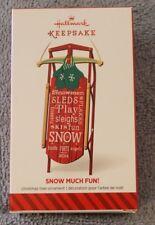 "2014  ""SNOW MUCH FUN!"" HALLMARK KEEPSAKE ORNAMENT NIB"