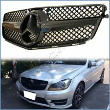 2008-2014 BENZ W204 PM SL Style All Shiny Black Front Grille For C250 C300 C350