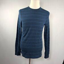Urban Pipeline Men Long Sleeve Thermal Shirt Top Size Medium Blue Stripes C86