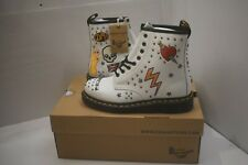 DR.MARTENS 1460 ROCK & ROLL STUDDED WHITE BOOTS UK 5