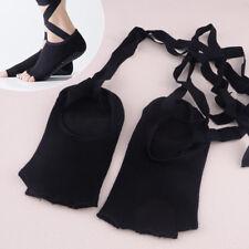 1 Paar Instep-nackt Ballett Schwarz Yoga Bandage Socken Öffnen Fünf Finger
