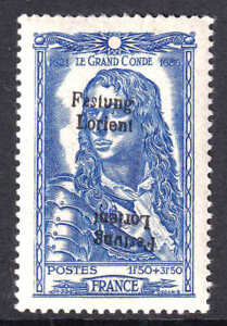 FRANCE B182 FESTUNG LORIENT OVERPRINT €4,250 SPINK/MAURY CV OG NH VF SIGNED