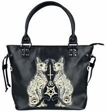 Banned Esoteric Cat Bag Rockabilly Large Shoulder Bag