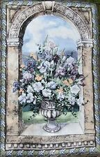 """NEW Tapestry- Elegant 56"""" x 38"""" Wall Hanging - Grandeur Floral Arch Made in USA"""