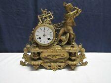 ancienne horloge pendule en regule