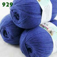 Sale 3 Skeins x 50g Soft Acrylic Wool Cashmere Hand Knit Fine Crochet Yarn 929
