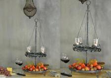 Vintage Etagere Metall Landhaus Rund Landhausstil Shabby Chic Schale Design Grau