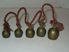 5 Graduated Brass Bells of Sarna-Etched