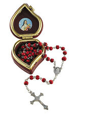 St. Therese Rose Scented Rosary in Heart Shaped Case (YC453)