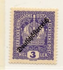 Austria 1918-19 Early Issue Fine Mint Hinged 3h. Optd 220885