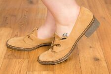 60s 70s vintage camel tan suede lace up pilgrim shoes Bective Tramps MOD scooter