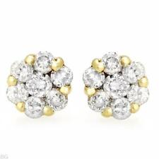 EARRINGS 14K YELLOW GOLD WITH GENUINE 0.28CTW DIAMONDS. NEW