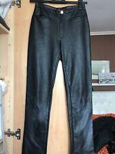 Joseph Black Leather Faux pants Leggings Trousers pret net a porter
