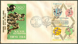 Philippines XVIII OLYMPIAD TOKYO 1964 First Day Cover - A