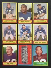 1963 TOPPS FOOTBALL NEAR COMPLETE HIGH MID GRADE SET 168/170 CREASE FREE