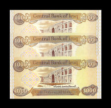3000 NEW IRAQI DINAR  (3 X 1,000)  New Uncirculated Lot Of 3 From New Bundle