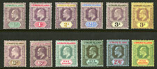 Leeward Islands  1905-11  Scott # 29-40  Mint Lightly Hinged to Mint Hinged Set