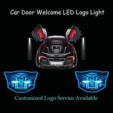 2pcs 3D Blue Transformers Autobots Logo Car Door Projector Shadow CREE LED Light