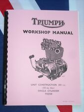 Shop Manual Fits Triumph 250cc TR25w Trophy 1968 1969 1970 Workshop Manual TR25