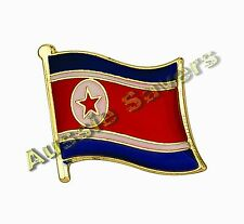 NORTH KOREA FLAG ENAMEL PIN BADGE BNIP