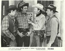 "WILD ""BILL"" ELLIOTT & RICK VALLIN in ""Topeka"" Original Vintage Photo 1953"